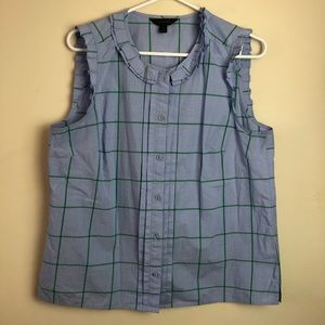 J Crew Size 12 Button Tank Top Blouse